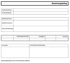 Bewirtungsbeleg Fill Online Printable Fillable 0