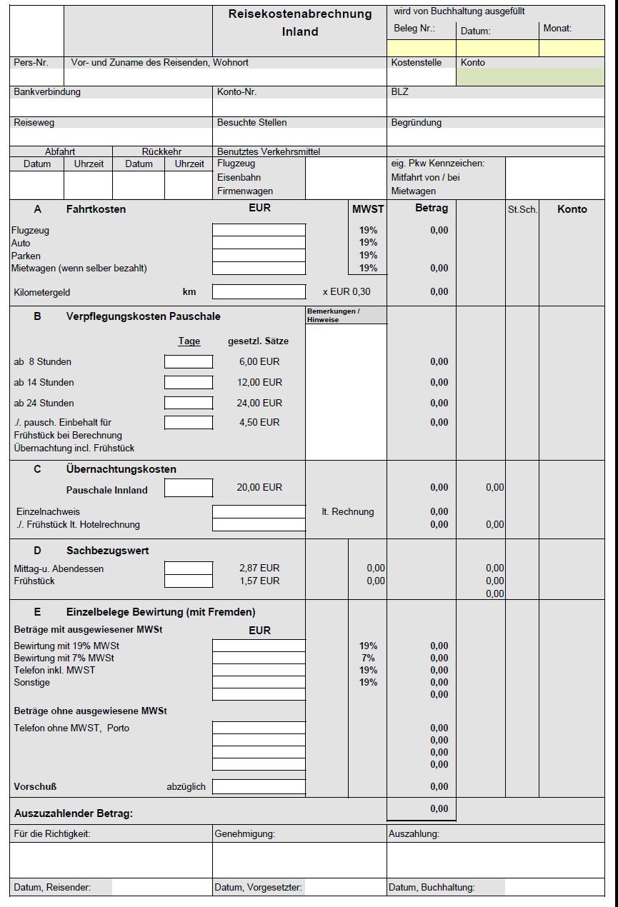 Verpflegungsmehraufwand Berechnen : reisekosten rechner ~ Themetempest.com Abrechnung