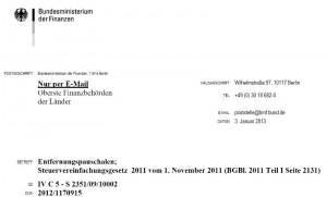 Neues BMF-Schreiben zur Entfernungspauschale / Pendlerpauschale